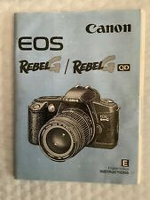 Canon Eos Rebel Gqd G Qd 35mm Camera Manual Instruction Guide Book Free Shipping