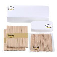 200 Wax Strips Nonwoven Bikini Body Waxing Hair Removal & 200 Applicators Sticks