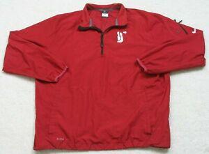 Nike Storm Fit Washington State Cougars Red Jacket Coat 1/4 Zip Large Polyester