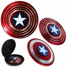 Captain America Fidget Hand Spinner Shield EDC Focus Toy & Carring Case for ADHD