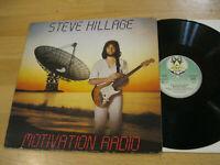LP Steve Hillage Motivation Radio Vinyl Virgin Records 25 468 XOT