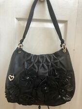 New Brighton Anthea Hobo Bag with Leather Flower Embellishment