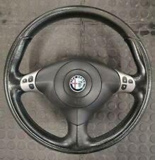 Alfa Romeo 156 GTA Black Leather Steering Wheel with Steering Wheel Controls