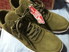VANS STYLE 201 PERF WINTER MOSS GREEN WHITE MEN'S ATHLETIC SHOES 11.5