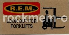 R.E.M. Fanclub card Look Out For Forklifts
