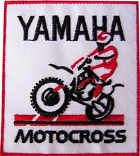 New Yamaha Motocross Racing embroidered iron on patch. 2.75 x 3 inch (i78)