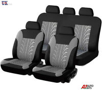 Universal Car Seat Light Cover Set (9 Pieces) Grey  Washable & Airbag Compatible