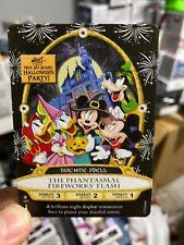 2019 Disney Halloween Party Sorcerers Card The Phantasmal Fireworks Flash 15P