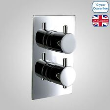 ROUND 1 WAY OUTLET CONCEALED BATHROOM THERMOSTATIC SHOWER VALVE MIXER CHROME