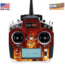 Red Fire Flames Spektrum DX18 Transmitter Skin Wrap Decal Radio