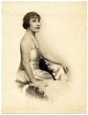 D'alessandri Rome Nice woman Fashion Original vintage silver photo 1920c L594