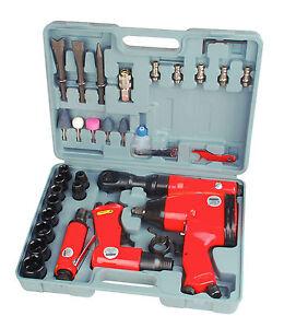 "Mannesmann Air Tools Set 33pc Wrench / Ratchet / Grinder / Hammer / 1/2"" 1/4"""