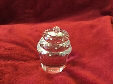 Simon Designs Crystal Cupcake Clear Rhinestones & Pink Crystal On Top