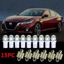 15 For 2002 2003 2004 2005 2006 Nissan Altima Xenon White LED Interior Light Kit