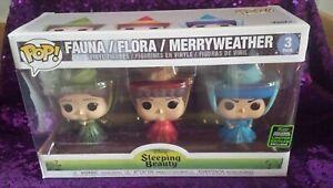 Funko Pop Disney Sleeping Beauty Fauna Flora Merryweather ECCC 2020 Shared Excl