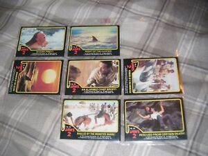 1978 Topps JAWS 2 Trading Cards Incomplete Set No's 5 25 30 42 50 51 58