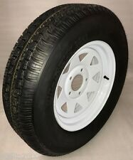 "13"" 5x4.5 White Spoke Trailer Wheel With Hi-Run Scap st175/80D13 Steel Belt Tire"