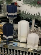 Absolutely Stunning Star Shape Candle & Luxury Elegant Decor, Navy Christmas