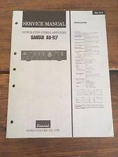 Sansui AU-117 Integrated Amplifier Service Manual Factory Original Rare!