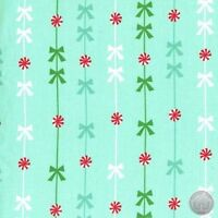 Michael Miller Peppermint Stripe Mint Holiday 100% Cotton Fabric By The Yard