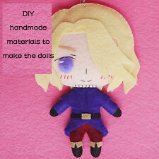 Anime Axis Power Hetalia DIY Hanging Plush Doll Toy Keychain Bag Cosplay#SX-113