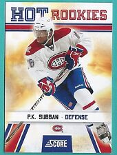 2010-11 Score Hot Rookie Card #519 of P.K. Subban