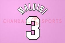 Maldini #3 1998-2000 AC Milan Homekit Nameset Printing