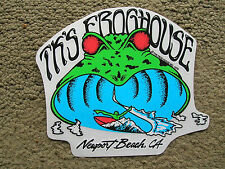 T k 's frog house surfboard sticker surfing longboard newport beach california