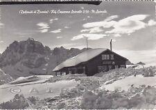 TRENTO MADONNA di CAMPIGLIO 41 RIFUGIO SPINALE NEVE Cartolina FOTOGR. viagg 1957