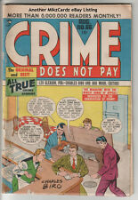 Crime Does Not Pay #66 (Aug 1948) Mid-Grade Condition Comic Book