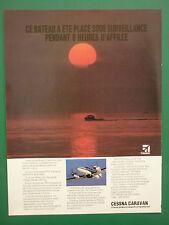 6/1987 PUB AVION CESSNA CARAVAN II CUSTOMS SERVICE SURVEILLANCE FRENCH AD
