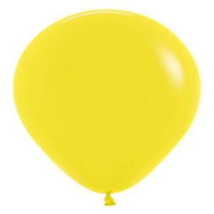 "12 FASHION YELLOW LATEX BALLOONS HELIUM GRADE 11"""