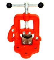 Bench Pipe Vise Yoke Hinged Clamp on Type Pipe Threader Plumbing Vice Tools #1