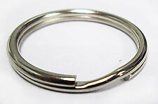 "Wholesale Lot 500 Key Rings 24mm 1""Split Ring Silver SpringTempered Top Quality"