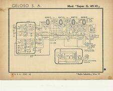 Ricevitore Geloso Mod. Super G. 49/41 Radio Industria Milano 1944