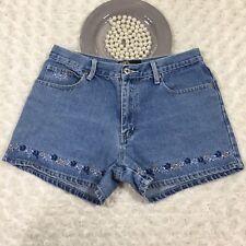 R21 by Rue 21 Womens Short Shorts Size 8 100% Cotton Mid Rise Blue Denim iq3287