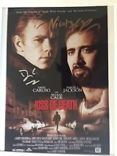 GENUINE HAND SIGNED DAVID CARUSO AND NICOLAS CAGE MOVIE PHOTO