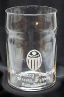 Rare c1940's Mt. Mercy Sanitarium Drinking Glass ~ Lincoln Highway, Dyer Indiana