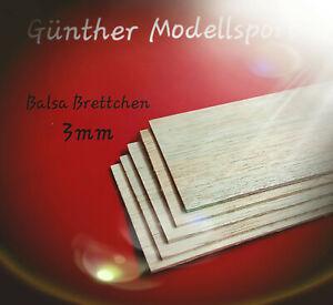 Balsa Brettchen 3,0 x 100 x 1000mm (VE= 5St.), C6443 Günther Modellsport