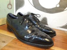 Trly Vntg Black Leather Johnston & Murphy Wingtip Oxfords Men's 11M (see msmts)