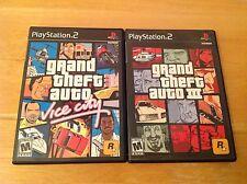 Playstation 2 - GTA 3 III & GTA Vice City - Grand Theft Auto - Black Label - PS2