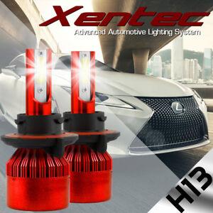 H13 9008 BEAMTECH LED Headlight PHlLlP CSP Kit Bulb 8000LM 50W Hi/Lo Beam 6500K