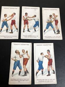 CIGARETTE CARDS OGDENS 1914 BOXING  5 X Individual Cards