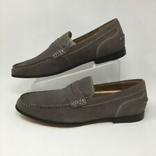 Kenneth Cole Reactions Crespo Mens Penny Loafer Grey Suede Almond Toe Shoes 11 M
