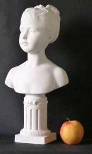 Buste De Louise Brongniart Par Houdon, Biscuit De Porcelaine, Villenauxe