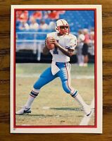 1985 Topps Sticker #87 Warren Moon RC - Oilers