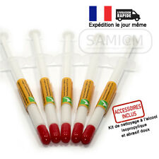 5 Seringues Pâte thermique silicone blanche Processeur Cpu Gpu