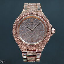 Michael Kors Ladies Camille Watch MK5862 - Rose Gold Tone Pave Crystals