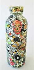 """New ListingAbstract Collage Decoupage Upcycled Glass Decorative Art Bottle """"Scull"""" 473ml"""