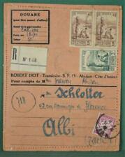 FRANCE COLONIES COTE DE IVOIRE ABIJAN STAMP COVER TO  FRANCE   (Y128)
